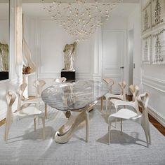 Joseph Walsh's Bent Wood Objects - ArtPeople. Elegant Dining Room, Luxury Dining Room, Modern Dining Table, Dining Room Design, Dining Rooms, Dining Decor, Dining Tables, Dining Furniture, Luxury Furniture