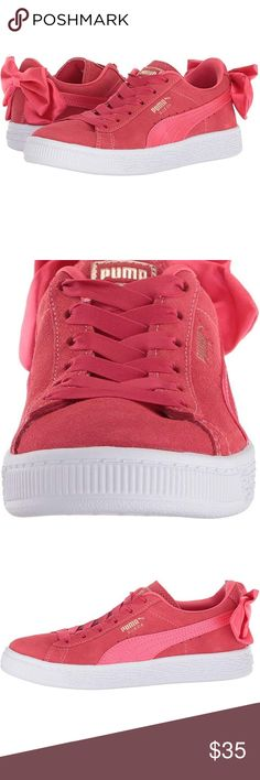 043412cee49e79 Girls Puma Sneakets Super cute paradise pink suede bow sneakers! These are  so cute you