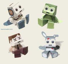 Cute Papercraft Toys - Kamimodel ~ Paperkraft.net - Free Papercraft, Paper Model, & Papertoy