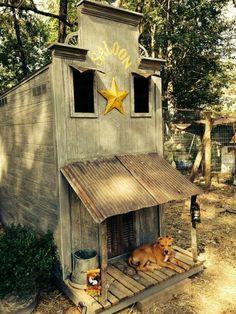 Western saloon chicken coop