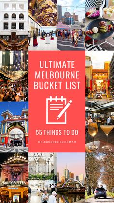 The Ultimate Melbourne Bucket List: 55 things to do - Australia (Oceania) Perth, Brisbane, Melbourne Australia, Melbourne Docklands, Melbourne Travel, Visit Melbourne, Great Barrier Reef, Domaine Chandon, Australia Travel Guide