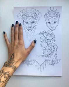 "6,995 Likes, 51 Comments - Ira Shmarinova (@ira_shmarinova) on Instagram: ""#tattoo #sketch Свободные эскизыжелающие пишите на почту Ira.inkers@gmail.com """