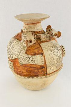 Vessel, Recuay, Peru, north highlands, 100 B.C.E. - 600 C.E., Ceramic, Fowler Museum at UCLA. Fowler Museum at UCLA. X90.477.