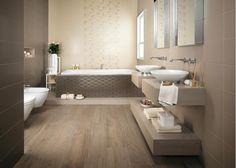 a pavimento di questo bagno la nostra collezione privé effetto ... - Bagni Moderni Beige E Marrone