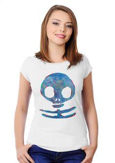 Winter war skull Women's Slim Fit T-shirt Design by Waukorbowy | Teequilla | Teequilla