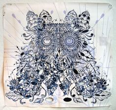This one makes me happy! Owl Print, Night Owl, Make Me Happy, Mixed Media, My Love, Owls, How To Make, Mixed Media Art, Owl