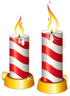 Transparent Christmas Candles PNG Clipart
