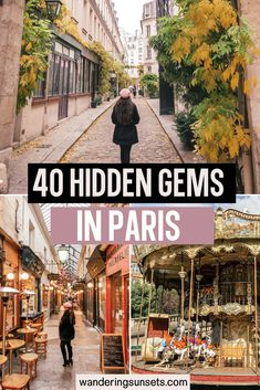Here are 40 hidden gems in Paris you need to check out on your next trip. Secret places and spots in Paris even locals don't know about. Explore passages, tiny streets covered in vines and blooming flowers, pretty gardens and more… Paris Travel Guide, Europe Travel Tips, European Travel, Usa Travel, Travel Guides, Cool Places To Visit, Places To Travel, Places To Go, Hidden Places