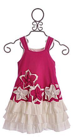 Isobella and Chloe Wild Flowers Girls Summer Dress Magenta $46.00
