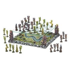 Fairy Chess Set............ In the legendary world of Fairy, the armies of two ancient kings gather for a mythical battle. Across the fields and woods they march, matching wits and force as players in the age-old classic strategy game of chess.