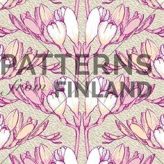 Freesia by Kahandi Design   #patternsfromfinland #kahandidesign #pattern #surfacedesign #finnishdesign