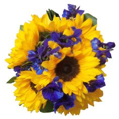 Image result for yellow and blue bouquet