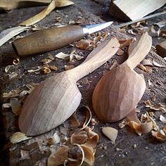 Steve Tomlin's cherry eating spoons (back view)