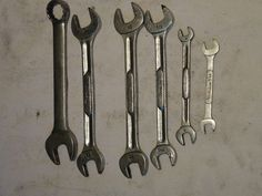 Snap-On Vintage lot of 6 open end & combination wrenches standard & metric find me at www.dandeepop.com