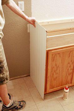 How to Raise Up A Short Vanity | Pocket hole screws, Pocket hole ...