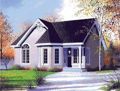 Eplans Cottage House Plan - Sweet Folk Victorian Cottage - 958 Square Feet and 2 Bedrooms from Eplans - House Plan Code HWEPL10954