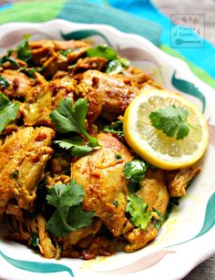 Lemon Cilantro Chicken - Fresh lemon juice, aromatic spices and herbs add so much flavor to this succulent chicken dish. Easy and delicious. Coriander Chicken Recipe, Cilantro Chicken, Lemon Chicken, Asian Recipes, Healthy Recipes, Ethnic Recipes, Asian Foods, Keto Recipes, Chocolate Zucchini Bread