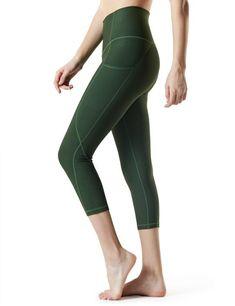 Tesla Yoga Pants High-Waist Tummy Control w Hidden Pocket Legging Outfits, Capri Leggings, Women's Leggings, Yoga Pants With Pockets, Yoga Capris, Well Dressed, Nice Dresses, Nike, High Waist