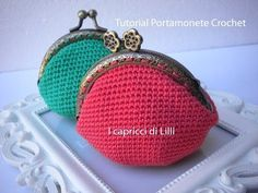 This simple tutorial by crochet pattern designer Stephanie Davies runs through how to attach a coin purse opener to a crocheted coin purse. Crotchet Bags, Knitted Bags, Crochet Coin Purse, Crochet Purses, Knit Or Crochet, Crochet Gifts, Sunburst Granny Square, Crochet Mandala Pattern, Purse Tutorial