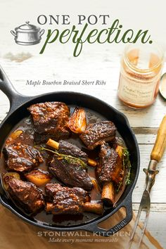 Our amazing Maple Bourbon Braising Sauce is made for braising! It's a flavorful medley of vegetables, sweet maple syrup and brown sugar, orange, savory garlic, ginger, spices and a generous splash of smooth, aged bourbon. Click to make your dinner plans…