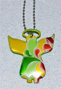Guardian AngelRecycled Soda Can Art Small Angel Charm by apmemory, $5.45