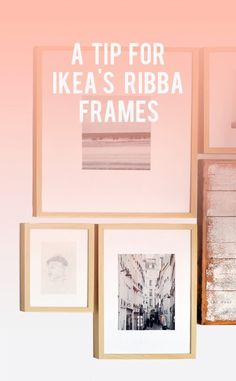 we have these frames all over the house - good tip for IKEA Ribba frames and making the mattes white