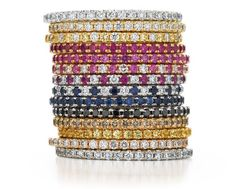 Stackable rings from Kwiat.. I want my future childrens birthstones to stack together.. someday.