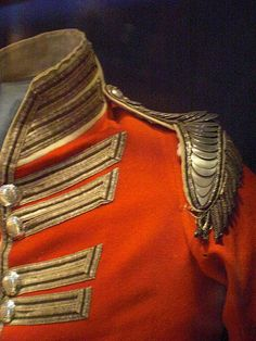 British army uniform have features like high collars, frogging and mainly padded shoulders, There uniform has to be very smart and fitted has they have to look presentable.