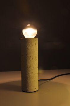 """Lampa z betonu """"Tube"""""""