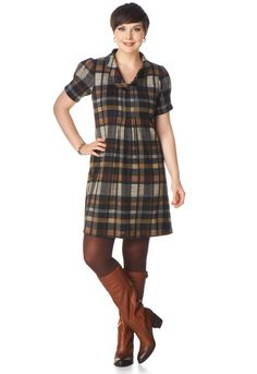 I want this!...  Plaid Cowl Neck Dress - View All Skirts & DressesChristopher & Banks | Christopher and Banks