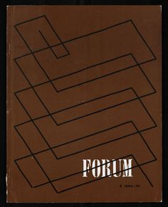 Jurriaan schrofer - Forum 8, 1961 International Typographic Style, Design Art, Graphic Design, Swiss Design, Typography Poster, Book Photography, Art Director, Optical Illusions, Art And Architecture