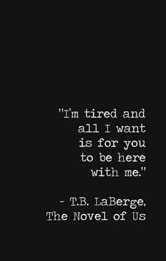 T.B. LaBerge // The Novel of Us