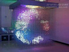 Current Largest 3D LED Cube Display (32*32*32=32768 pixels)