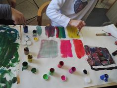 Modern art activity for children: inspired by Rothko, Mondrian, Pollock