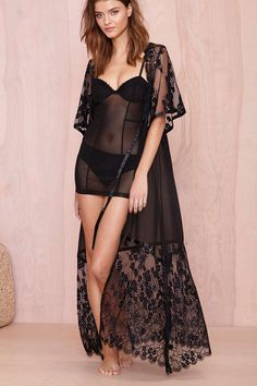 Skivvies by For Love and Lemons Anastasia Robe   Shop What's New at Nasty Gal