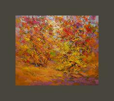 Autumn Landscape  Autumn Forest  Landscape Painting  by Pysar