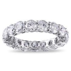 4.25 Ct Sparkling diamonds eternity wedding band 14K White gold