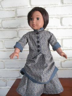 DO THE Bustle! Two Piece Historical Victorian 1870 Bustle Skirt and Fitted Cinched Jacket for American Girl and Other 18 Inch Dolls Bustle Skirt, Gotz Dolls, Our Generation Dolls, Victorian Women, 18 Inch Doll, Red Plaid, Striped Dress, American Girl, Doll Clothes