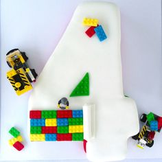 Awesome Cake from this Lego themed birthday party with Such Awesome Ideas via Kara's Party Ideas | Cake, decor, cupcakes, games and more! KarasPartyIdeas.com #Lego...