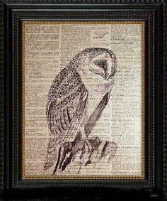 Barn Owl vis Etsy Bizzibeez