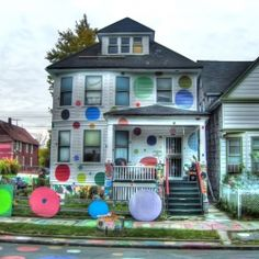 Artist Tyree Guyton and other loals spent decades revitalizing this Detroit Community.  Check out the website.  http://www.heidelberg.org/