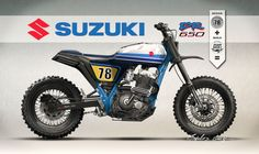 nunocapelo - dreamwheelsheritage and Caplelos Garage have joined forces to idealize this incredible project of a Suzuki DR650RS inspired by the modern scrambler/tracker scene