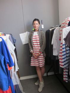 Chinti and Parker red striped dress #ecofashion #ChintiandParker