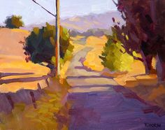 Tim Horn: This is 9 of the 13 paintings I did during the Sonoma Plein Air event this year. This one was difficult because these buildings were so f. Landscape Art, Landscape Paintings, Watercolor Paintings, Abstract Paintings, Art Paintings, Country Landscaping, Guache, Light Painting, Painting Tips