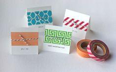 Washi tape + twine cards