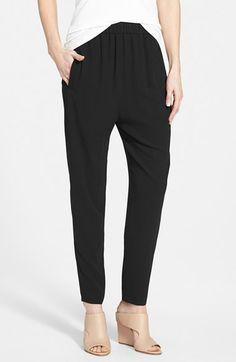 Women's Eileen Fisher Slouchy Silk Ankle Pants