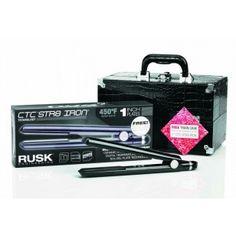 RUSK CTC STR8 1 INCH IRON W/FREE TRAIN CASE | Image Beauty
