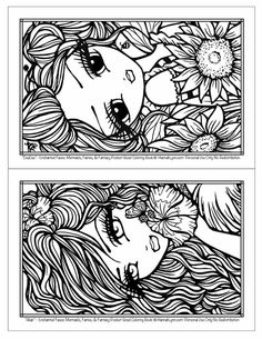 Blank Coloring Pages, Fairy Coloring Pages, Colouring Pics, Doodle Coloring, Coloring For Kids, Printable Coloring Pages, Coloring Books, Colorful Drawings, Colorful Pictures