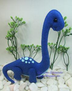 dinossauro feltro (felt dinosaur) | Gracinhas Artesanato