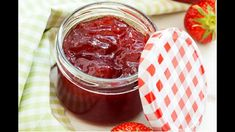 This is the easiest strawberry jam you can make and it tastes amazing! Strawberries have a short season, so preserve them while they are still in season. #jams #strawberries #strawberryjam #fruitpreserves #howtomakestrawberryjam #nothermometrestrawberryjam #nopectinstrawberryjam Vegan Gluten Free, Vegan Vegetarian, Homemade Strawberry Jam, Fruit Preserves, Preserving Food, Pudding, Sugar, Desserts, Recipes